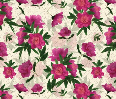 Peony Leaves fabric by cathy_ann on Spoonflower - custom fabric