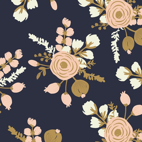 Rosa hand drawn modern rose seamless pattern