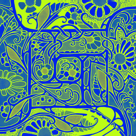 4af825997d4 https   www.spoonflower.com fabric 8012744-double-protea-outline ...