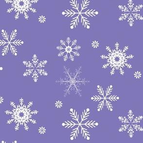 snowflakes royal purple