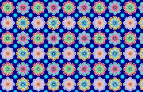 FratalFlowers2 fabric by grannynan on Spoonflower - custom fabric