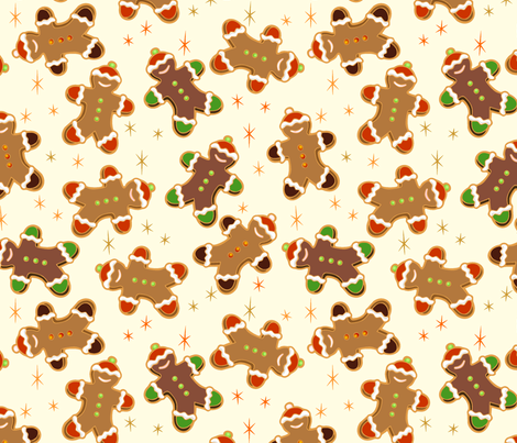 gingerbread people fabric by hannafate on Spoonflower - custom fabric