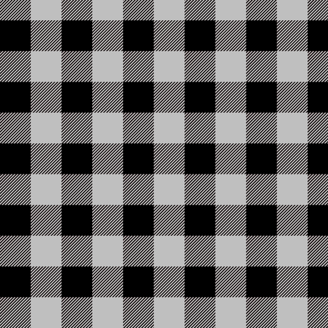 "3/4"" Black + Gray Buffalo Plaid – Lumberjack Buffalo Check fabric by gingerlous on Spoonflower - custom fabric"