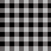 "3/4"" Black + Gray Buffalo Plaid – Lumberjack Buffalo Check"