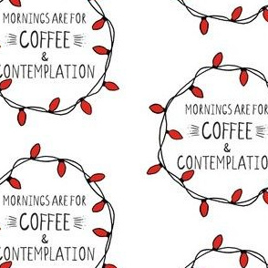 Mornings are for Coffee Wreath