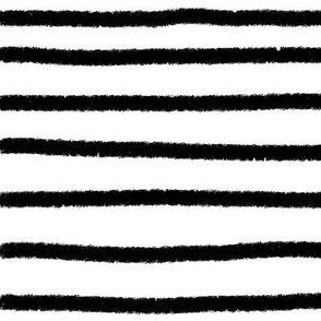 Sketchy Stripes // Black (Large Size Print)