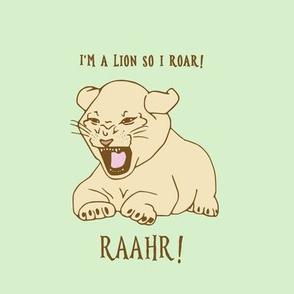 lion cub on pistachio