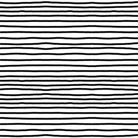 Sketchy Stripes // Black (Small Size) fabric by theartwerks on Spoonflower - custom fabric