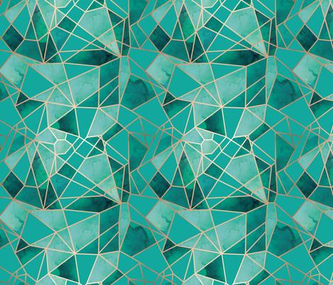 Large Gemstone Fragmentation fabric by mintedtulip on Spoonflower - custom fabric