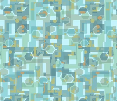 Cozy Hex Fragmentation fabric by homebodyxjere on Spoonflower - custom fabric