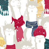 Happy llamas Christmas Choir
