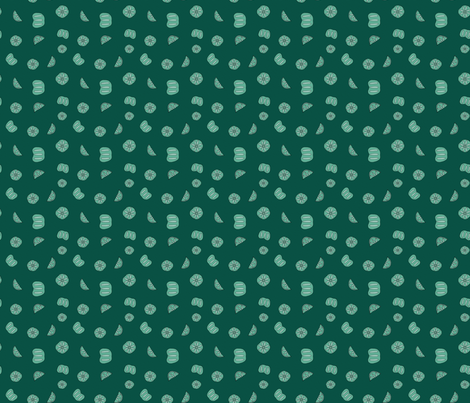 Abstract Persimmon Slices green fabric by inky_leguin on Spoonflower - custom fabric