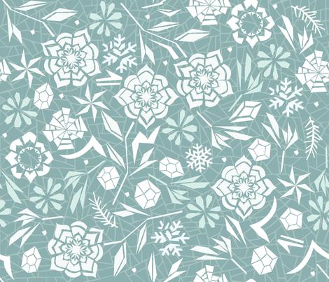 Frozen garden fabric by camcreative on Spoonflower - custom fabric