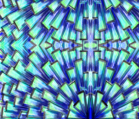 Fragmentation fabric by gcatmash on Spoonflower - custom fabric