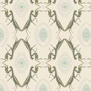 mantis mirror, off white