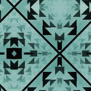 triangular patchwork illusion