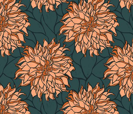 Deconstructed Dahlia fabric by megsmithcreative on Spoonflower - custom fabric