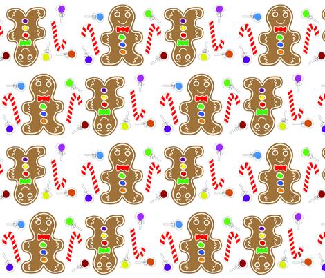Gingerbread fabric by mirandacc12 on Spoonflower - custom fabric