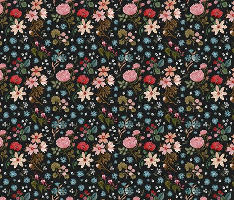 Night Flower Garden fabric by oanabefort on Spoonflower - custom fabric