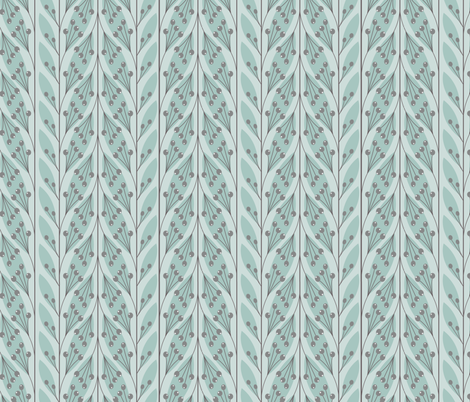 leaves_icedmint fabric by krista_power on Spoonflower - custom fabric