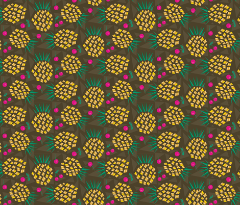 Pineapple Punch fabric by designs_by_lisa_k on Spoonflower - custom fabric