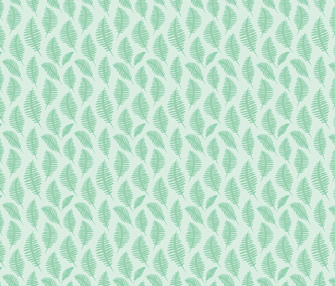 ferns_icedmint fabric by krista_power on Spoonflower - custom fabric