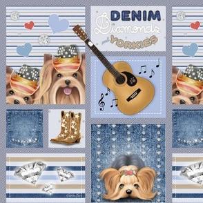 Denim,  diamonds and Yorkies M