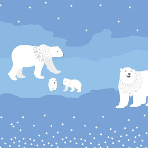 polar bear starry landscape