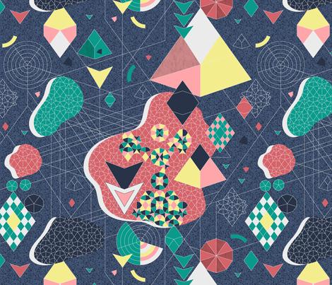 Abstract Fragmentation fabric by vannina on Spoonflower - custom fabric