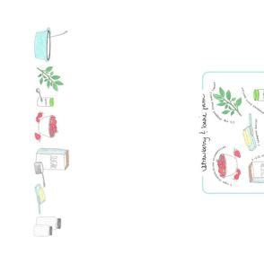 Strawberry Basil Jam Recipe tea towel