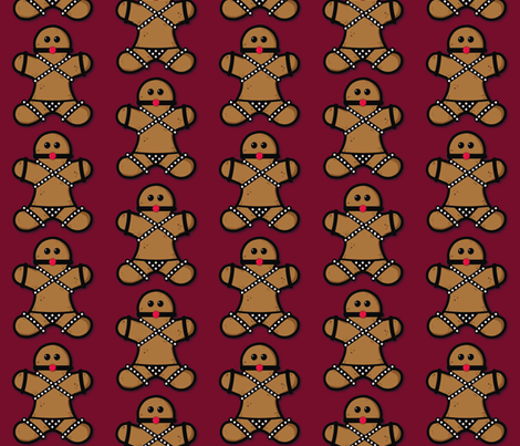 Bondage Gingerbread fabric by paytonstray on Spoonflower - custom fabric