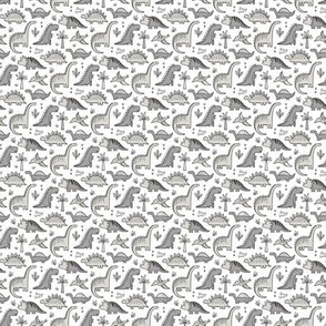 Dinosaurs in Grey Tiny Small