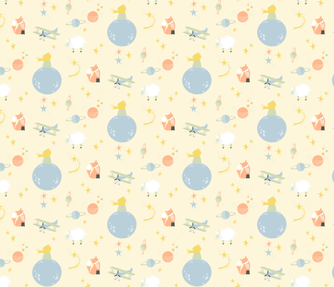Space boy fabric katherinelenius spoonflower for Space boy fabric