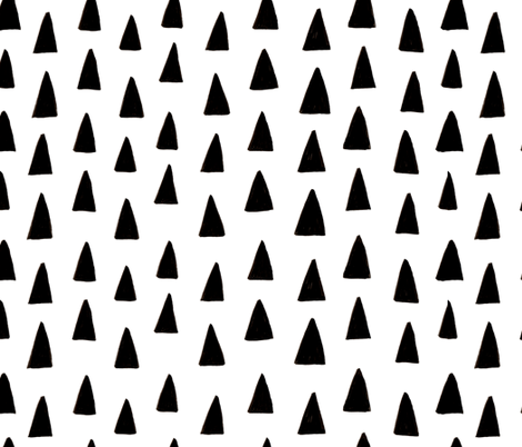 Triangle Forest - Black/White fabric by honeyberrystudios on Spoonflower - custom fabric
