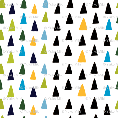 Triangle Forest - Green/Blue/Black/Yellow
