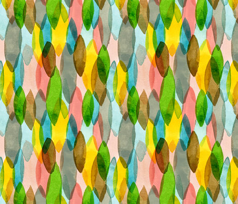 sweet leaf drops fabric by flowie on Spoonflower - custom fabric