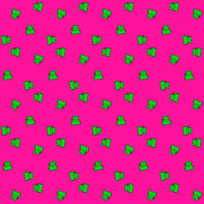 Fanciful Froggy on Bright Pink