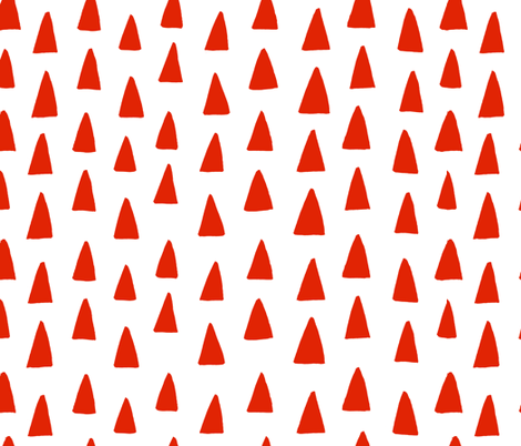 Triangle Forest - Red/White fabric by honeyberrystudios on Spoonflower - custom fabric