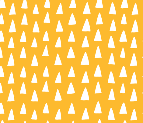 Triangle Forest - HoneyYellow fabric by honeyberrystudios on Spoonflower - custom fabric