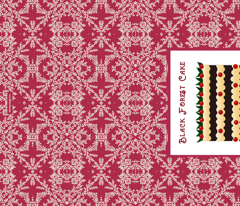 black forest cakes towel fabric by lfntextiles on Spoonflower - custom fabric