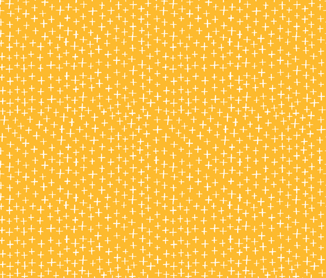 Cross Stitch - HoneyYellow fabric by honeyberrystudios on Spoonflower - custom fabric