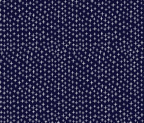 Cross Stitch - Smoky Blue fabric by honeyberrystudios on Spoonflower - custom fabric