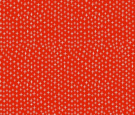 Cross Stitch - Red fabric by honeyberrystudios on Spoonflower - custom fabric