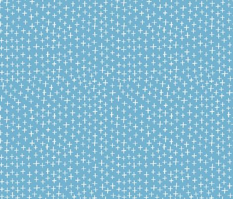 Cross Stitch - Light Blue fabric by honeyberrystudios on Spoonflower - custom fabric