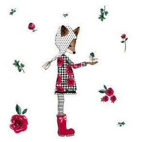 "6"" WINTER PLAID FRIENDS / Florals"