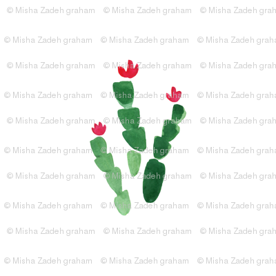 Christmas Cactus Half-Drop