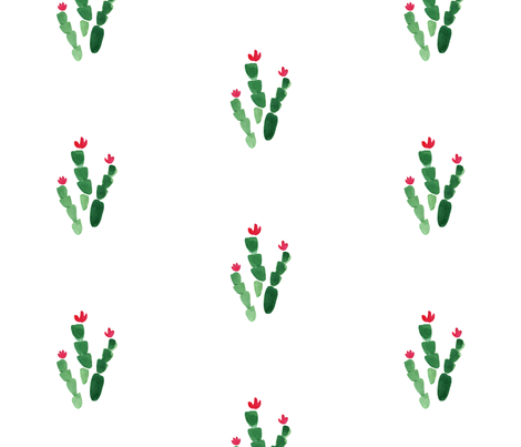 Christmas Cactus Half-Drop fabric by mishazadeh on Spoonflower - custom fabric