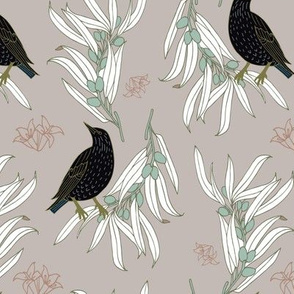 Starling + Olive in Pink - Large