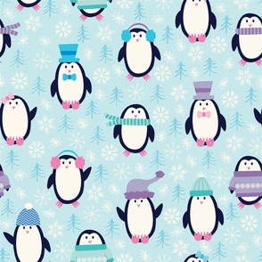 Pastel Penguins