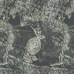 Batik-forest teal